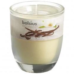 Свеча ароматическая ваниль, в стакане 80*70мм
