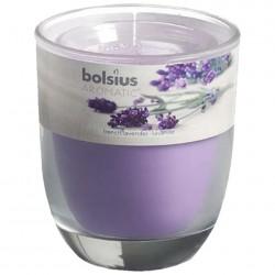Свеча ароматическая лаванда, в стакане 80*70мм