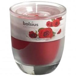 Свеча ароматическая роза, в стакане 80*70мм