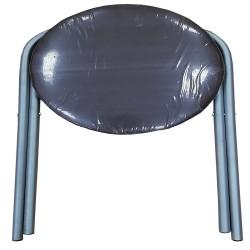 Табурет складной круглый титан-серый металл NEW Victoria 07777