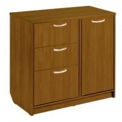 Комод 3 ящика с дверью орех (1,2*0,42*0,84)