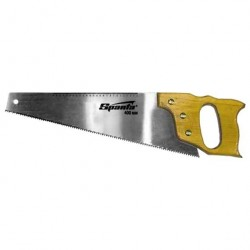 Ножовка по дереву 400мм, закал зуб, с линейкой и дерев.ручкой  Sparta 231855