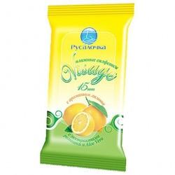Салфетки освежающие РУСАЛОЧКА Visage Лимон 15шт 75289