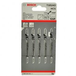 Набор пилок для лобзика Т101 АО /5шт/ Bosch 2608630031