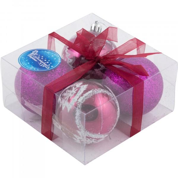 набор шаров pb6-4tdg-mix волшебная страна 4шт 6см пластик 102190