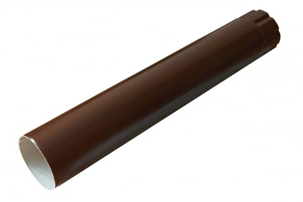 труба водосточная, цвет шоколадно-коричневый ral 8017, d-100 мм х 3 м труба водосточная grand line пвх d120 87х3000 мм белая