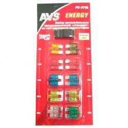 Набор предохранителей автомобильных со светодиодом стандарт AVS FC-272L