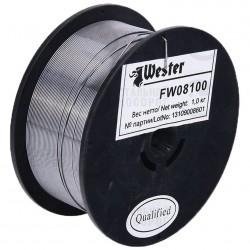 Проволока сварочная флюсовая WESTER FW 08100 d=0,8мм, 1кг