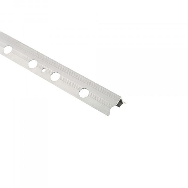 Фото - профиль алюминиевый внутренний с перфорацией 10мм, серый профиль антимоскитный внутренний 27х10мм кор 5 8м