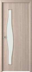 Полотно дверное Волна ДО 80x200см, ламинация, цвет беленый дуб
