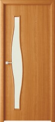 Полотно дверное Волна ДО 70x200см, ламинация, цвет миланский орех