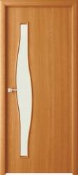 Полотно дверное Волна ДО 80x200см, ламинация, цвет миланский орех