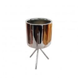 Подсвечник керамический Ансель 8,5х15,2см 18208-w/серебро