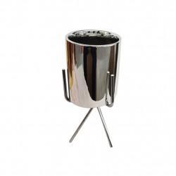 Подсвечник керамический Ансель 8,5х17,2см 18209-w/серебро
