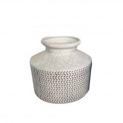Ваза керамическая Аваллон 15,5х15,5см 17C921-1/белая