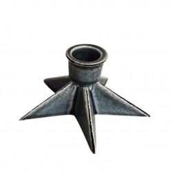 Подсвечник керамический Кристи  6х11см 17W520-2/серый