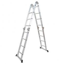 Лестница 4 секции по 4 ступени, 4,57/2,22/1,17/0,34м, 150кг, 5444