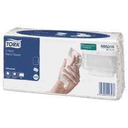 Полотенца бумажные TORK 20пачек 120листов сложения C-fold 2-слоя Н3 47111