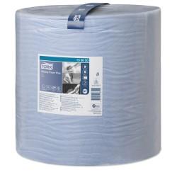 Бумага протирочная Плюс TORK рулон 1500листов (37*34см) W1 2слоя синяя 130050