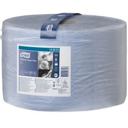 Бумага протирочная Плюс TORK рулон 1500листов (23,5*34см) W1 2слоя синяя 130051