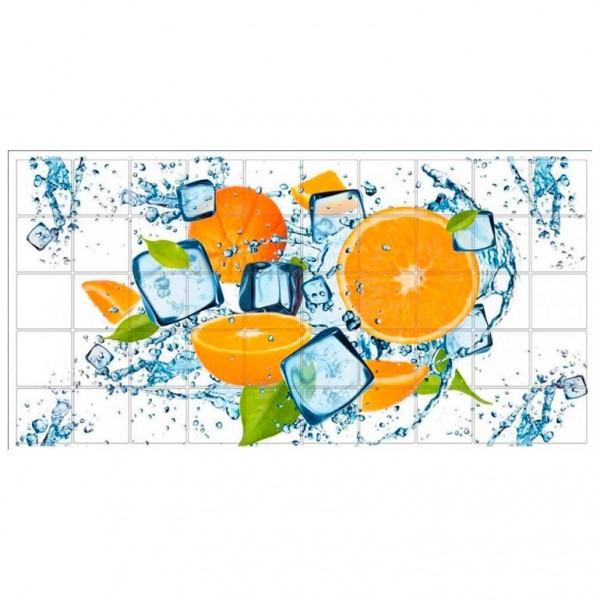 панель пвх 0,96*0,485*0,002 мозаика апельсин
