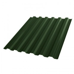 Профнастил С21 1051*2000мм толщина 0,4мм Полиэстер RAL 6005 зеленый мох