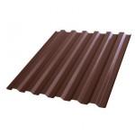 Профнастил С21R 1051*2000мм Полиэстер RAL 8017 шоколад /Эконом/