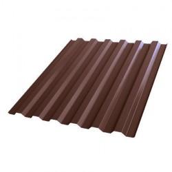 Профнастил С21 1051*2000мм толщина 0,4мм Полиэстер RAL 8017 шоколад