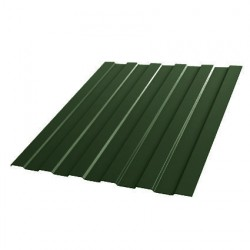 Профнастил С8 1200*2000мм толщина 0,4мм Полиэстер RAL 6005 зеленый мох