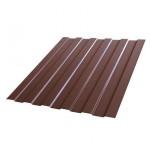 Профнастил С8А 1200*2000мм Полиэстер RAL 8017 шоколад /Эконом/