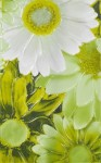 Декор Парадис 1 25*40 зеленый (белая ромашка) 341721/1