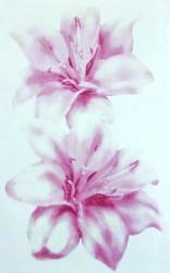 Декор Лилия 25*40 розовый 340042