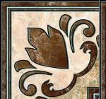 Вставка Emperador 13,7*13,7 коричневый
