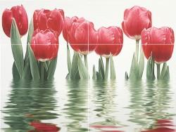Панно Тюльпаны 75*1000*9 светлый