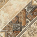 Плитка напольная Carpets 43*43 Темно-коричневый декорир 434384032