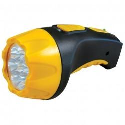 Фонарь Ultra Flash LED 3804  4LED черно-желтый аккумулятор.  AKKU PROFI