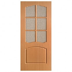 Полотно дверное Альфа ДО 800 миланский орех ПВХ