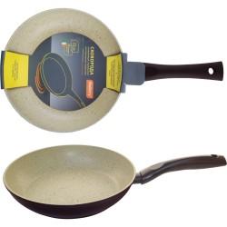 Сковорода d=22см MP-22 Mallony алюминиевая с мраморным антиприг-м покр-ем, индукция, штамповка 00210