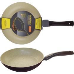 Сковорода d=26см MP-26 Mallony алюминиевая с мраморным антиприг-м покр-ем, индукция, штамповка 00199