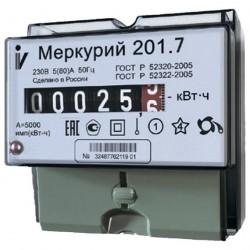 Счетчик механический 1ф 5-60А 230В Меркурий-201.7
