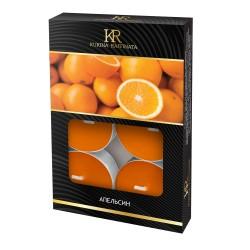 Свеча ароматическая чайная малая 6шт Апельсин Kukina Raffinata 202857