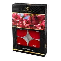 Свеча ароматическая чайная малая 6шт Цветущий сад Kukina Raffinata 202884