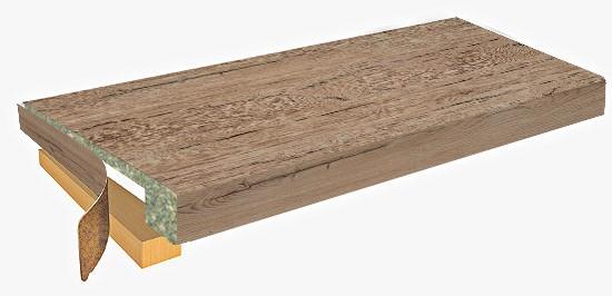 столешница r9 проф-стандарт 3000x600x56(54) 1u 2075/fl дуб кера