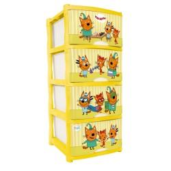 Комод детский Три Кота Игры Little Angel пластик LA1232-НК