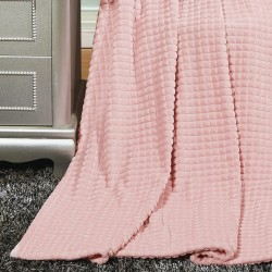 Плед из микрофайбера Пирамида 98919 200х220 розовый