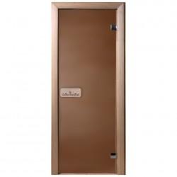 Дверь для сауны DoorWood ТЕПЛЫЙ ДЕНЬ,700*1900мм, стекло бронза, ручка, петли, коробка хвоя