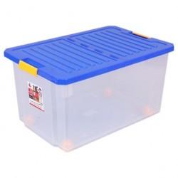 Ящик для хранения 57л со складной крышкой, на роликах BQ2566