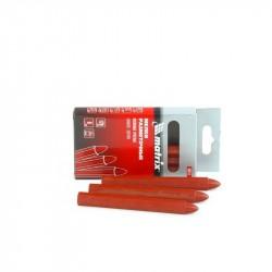 Мелки разметочные восковые красные, 120мм, коробка 6шт., Matrix, 84818