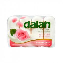 Мыло туалетное 4*90г Dalan Beauty Soap роза и молоко 4490