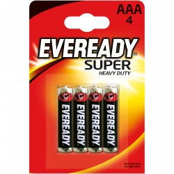 Батарейка ААА солевая Eveready Super Heavy Duty, 4шт